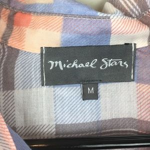 Michael Stars Tops - NWOT Michael Stars Blue Pink Print Flannel - B5